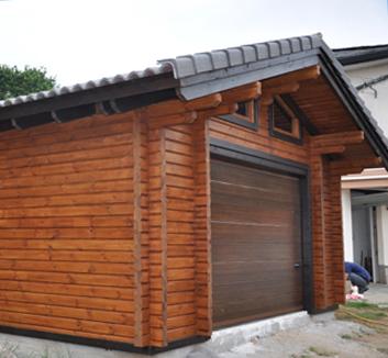 Grupo lince casas de madera construcciones de madera - Garajes prefabricados de madera ...